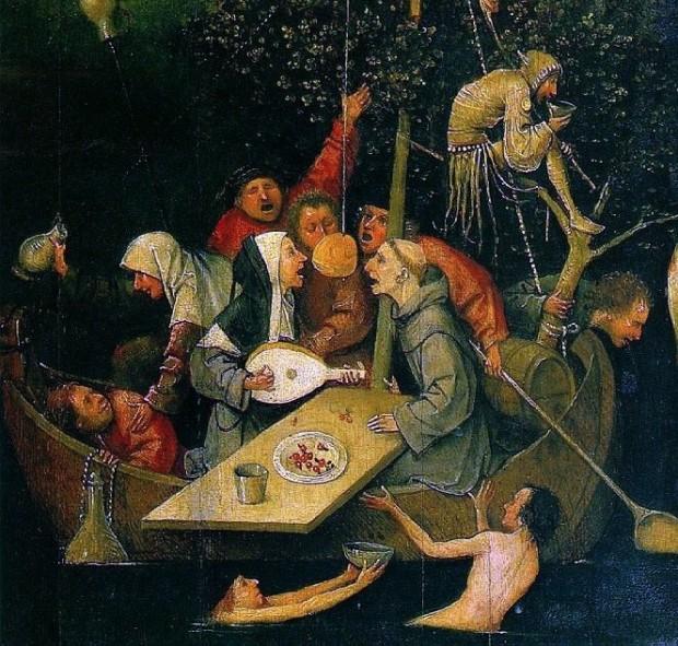 Jerome BOSCH - la nef des fous (detail)