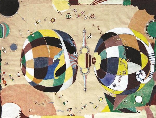 Sans titre, 1950, gouache-sur-papie, Collection-Chave-Vence-©-Galerie-Chave-Vence