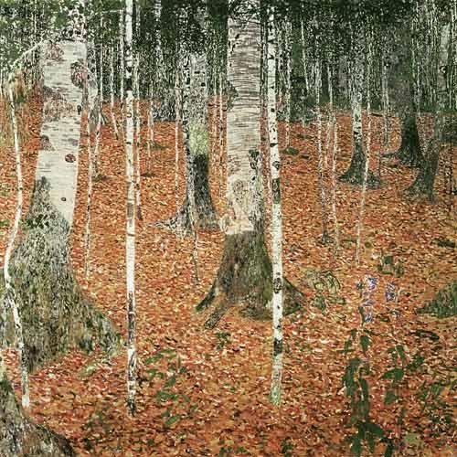 Forêt de bouleaux en automne, 1903 Gustav Klimt, Vienne, Osterreichische Galerie